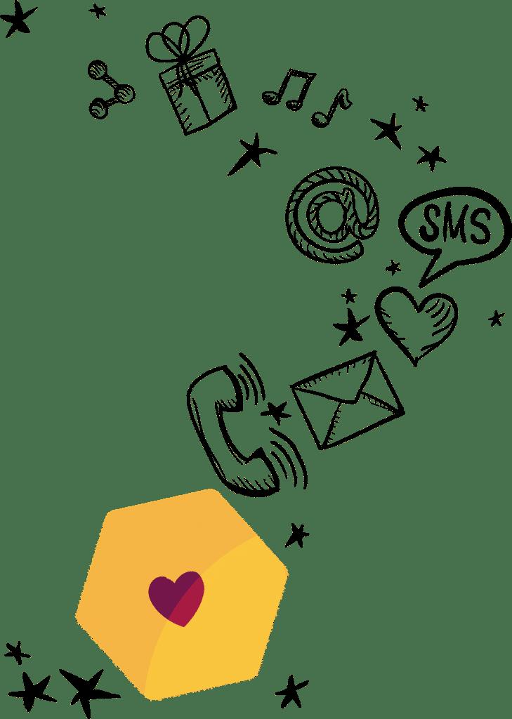 צור קשר לוגו דובשנית